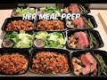 Her Meal Prep - Spaghetti With A Side Salad - Flank Steak With Roasted Potatoes And Asparagus