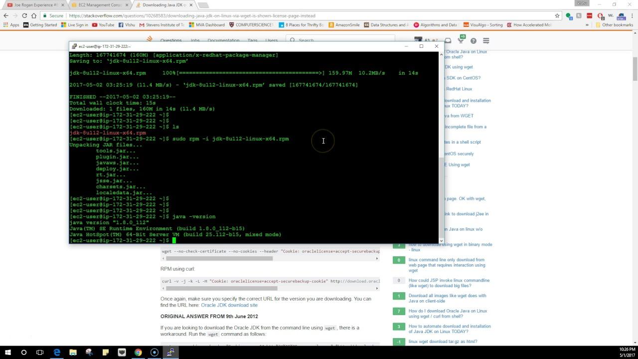 install aws java sdk linux