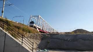 【JR貨物】EF81形肥薩おれんじ鉄道上川内-川内間川内川橋梁通過