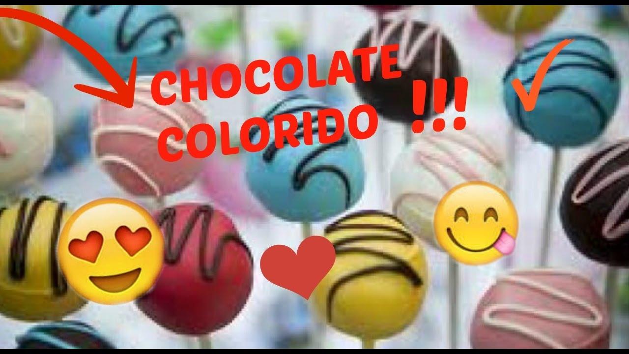 como colorir chocolate super facil youtube