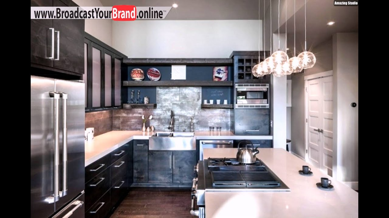wohnideen k che modern fliesenspiegel metall effekte youtube. Black Bedroom Furniture Sets. Home Design Ideas