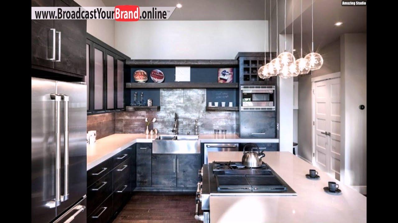 Wohnideen küche modern holz esstisch schwarze glas küchenrückwand ...