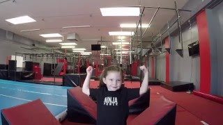 4 Year Old Girl Ninja Warrior Crushes the Course!