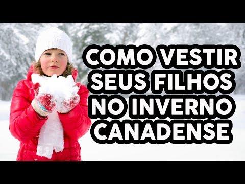 COMO VESTIR OS FILHOS PARA O INVERNO CANADENSE