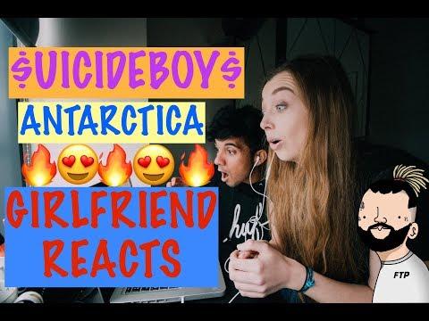 $UICIDEBOY$ - ANTARCTICA (GIRLFRIEND REACTION VIDEO)