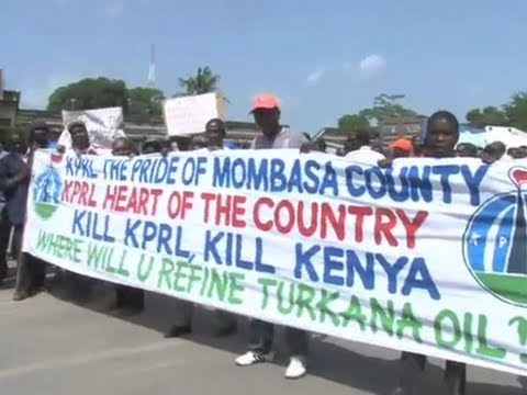 Protests over closure of east African oil refinery