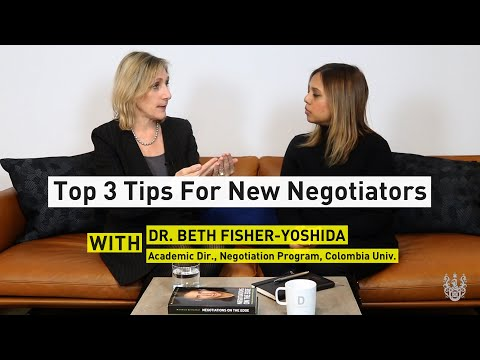 Top 3 Tips For New Negotiators With Dr. Beth Fisher-Yoshida