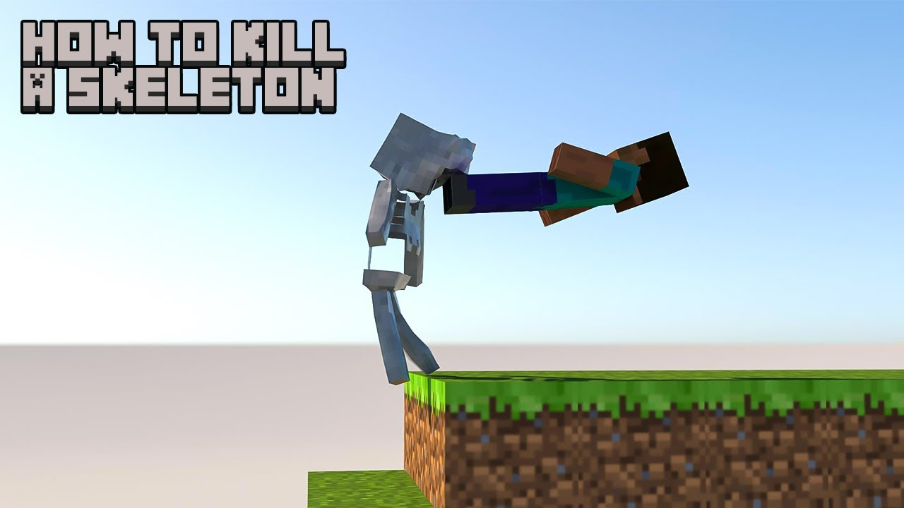 How To Kill a Skeleton in Minecraft [Softbody simulation]