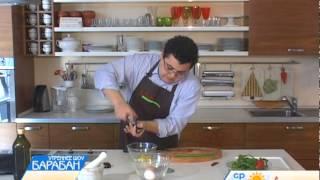Завтрак в Анетти: омлет с томатами и перцем чили.