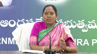 Andhra Pradesh Home Minister Sucharita First Press Meet Secretariat || Online Entertainment