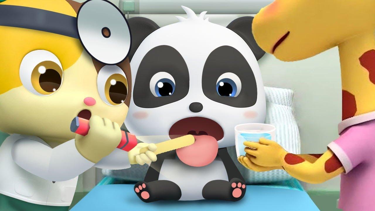 Baby Panda Got Sick | for kids | Kids Cartoon | Nursery Rhymes | Kids Songs | BabyBus