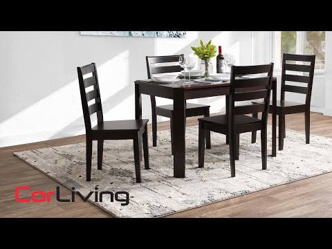 Solid Wood Dining Table & Chair Set - Memphis Collection | CorLiving