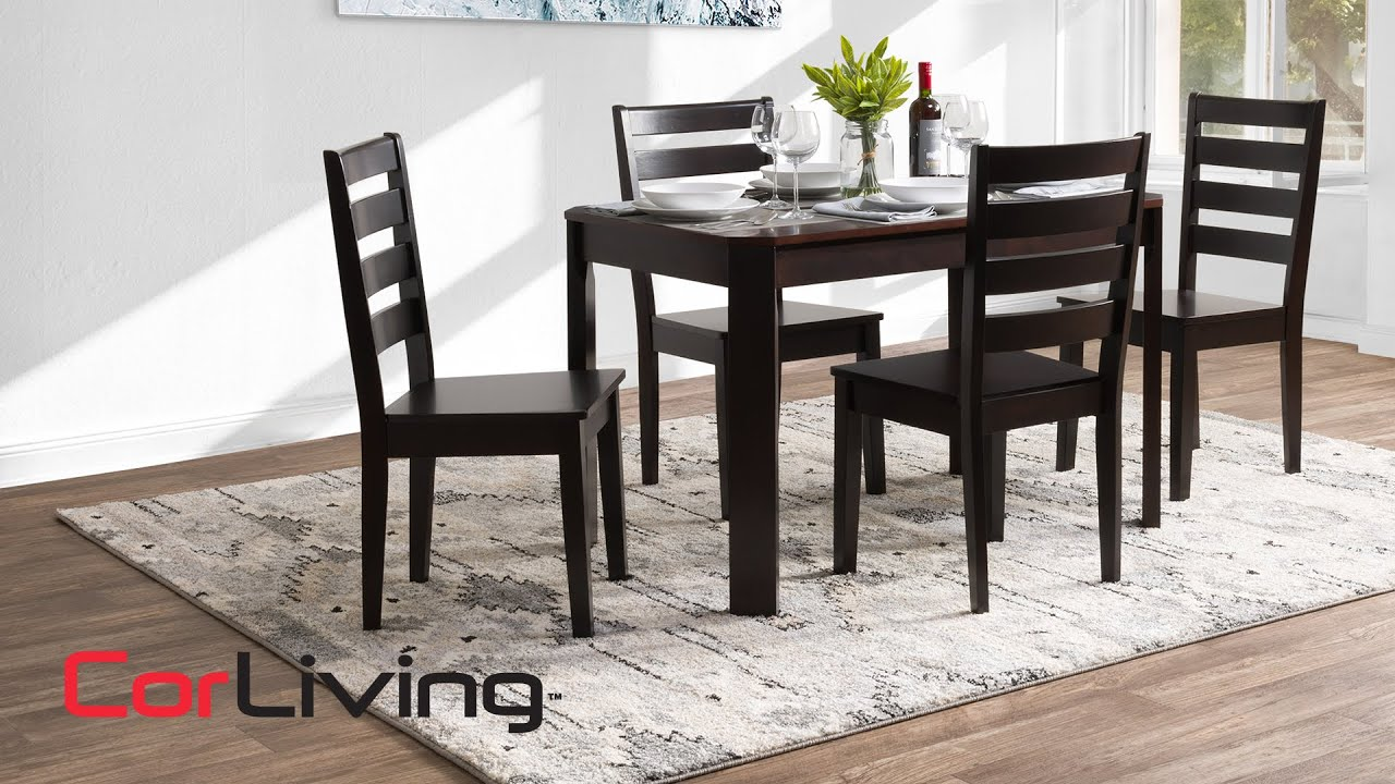 Solid Wood Dining Table Chair Set, Wood Dining Room Table Chairs