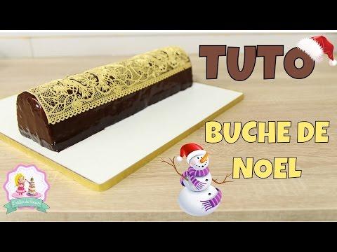•-❅-•-recette-buche-de-noel---glacage-miroir-au-chocolat,-framboise-et-pain-d'Épices-•-❅-•