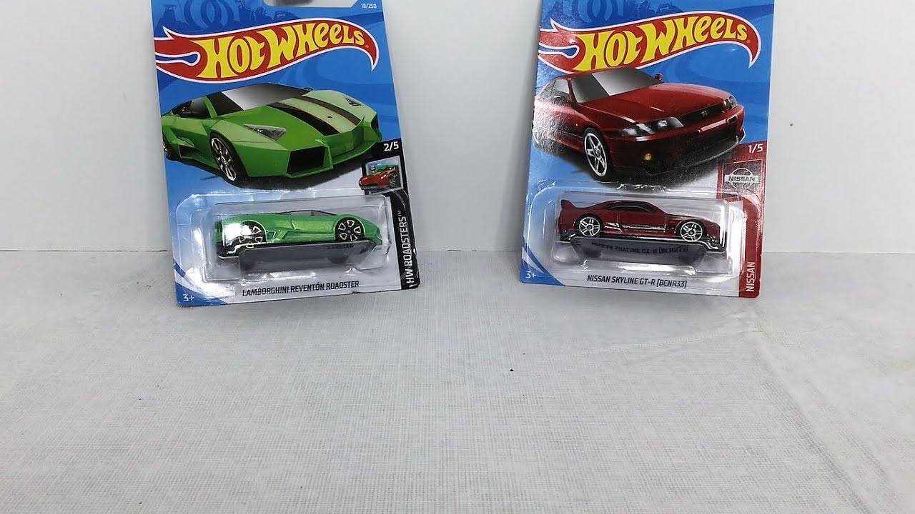 Hot Wheels Lamborghini Reventon Roadster And Nissan Skyline Gt R