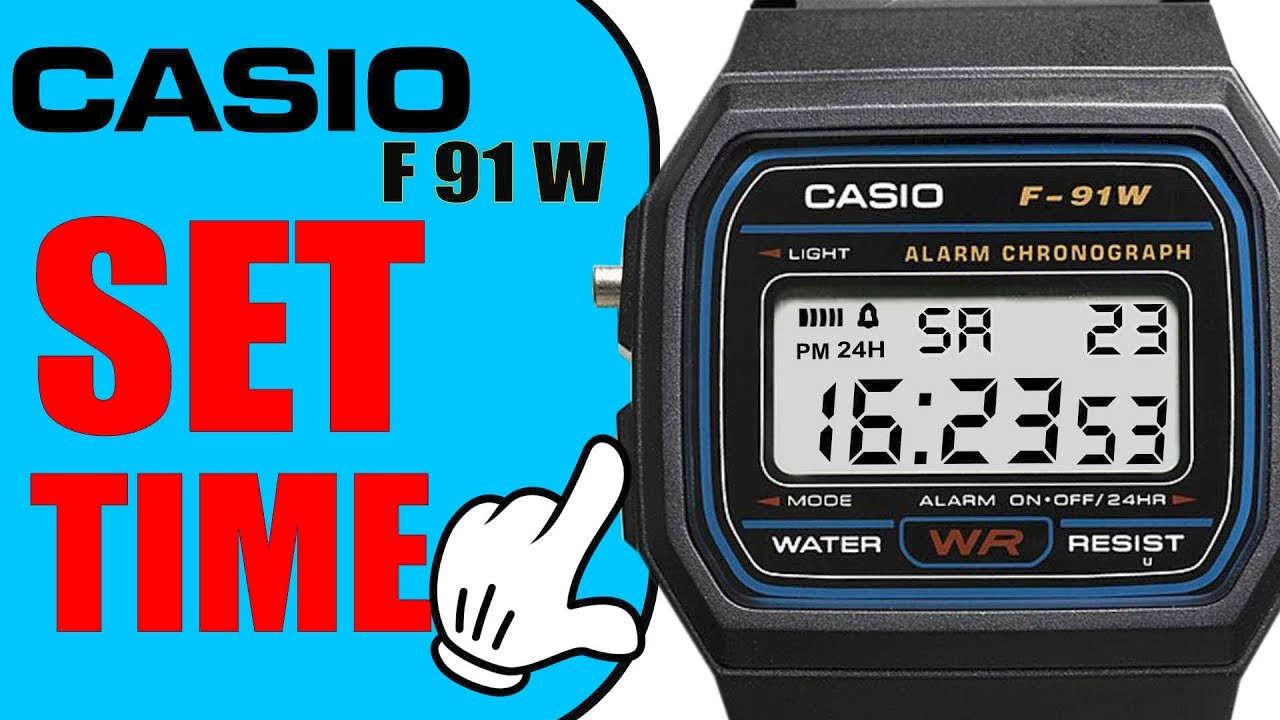 how to change time on casio watch