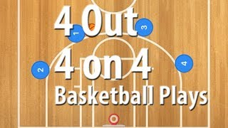 4 Out Basketball Plays for 4 on 4 Basketball Games | 4 on 4 Basketball Plays