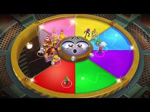 Super Mario Party MiniGames - Mario Vs Bowser Vs Peach Vs Daisy (Master Cpu)