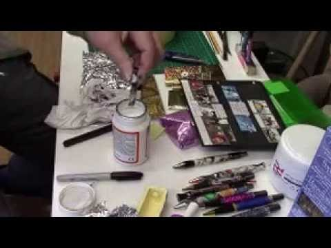 Setting stamps in resin for pens