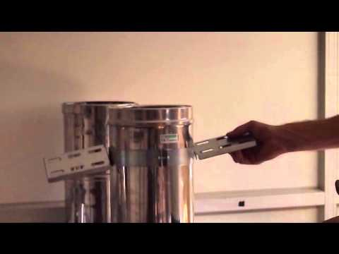 Goede Rookkanaal dubbelwandig binnenshuis - YouTube LH-57