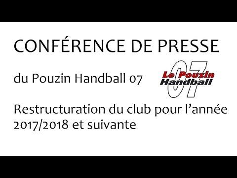 Conférence Le Pouzin Handball 07 du Jeudi 18 mai 2017