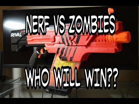Zombies are attacking!! Quick grab your Nerf Blasters!!