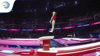 Stacy BERTRANDT (BEL) - 2018 Artistic Gymnastics Europeans, junior qualification vault