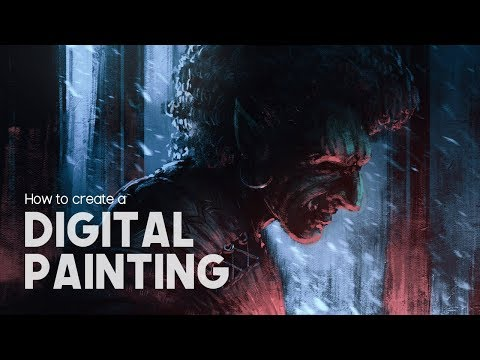 Digital Painting Tutorial - How to Create a Character
