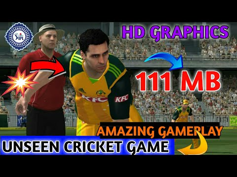 🔥OMG 111 MB High HD Graphics Cricket Game ✌Not There On Playstore 🔥Unseen Cricket Game✌HD Graphics