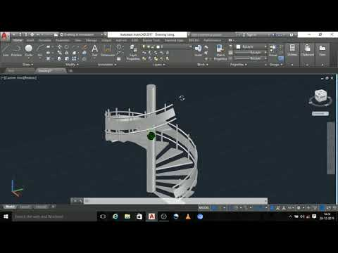How To Create Circular Staircase In Tamil/autocad In Tamil Language