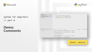 Demo: Comments | Python for Beginners [8 of 44]