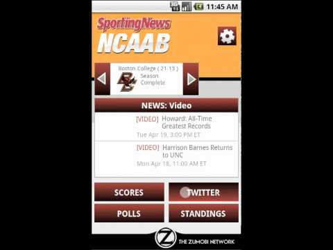 Sporting News NCAA Basketball Android App Walkthrough