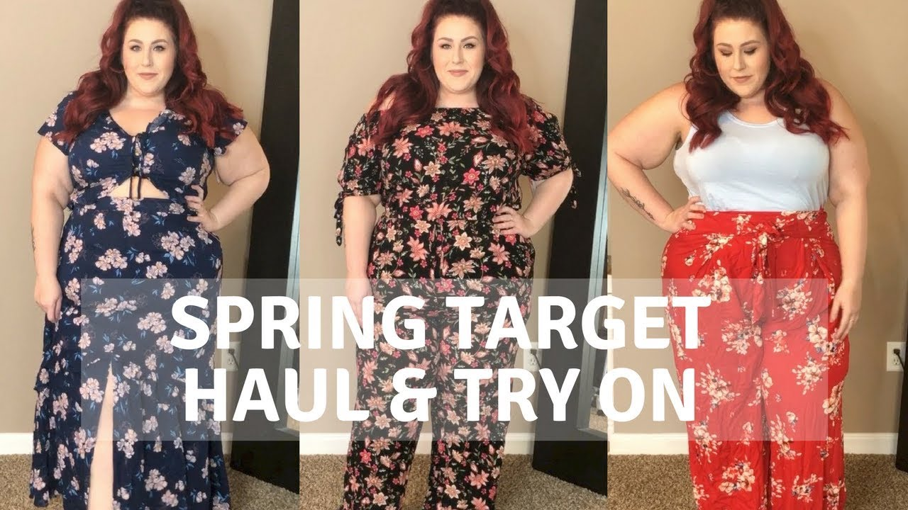 Target- Spring Plus Size Haul and Try On - YouTube