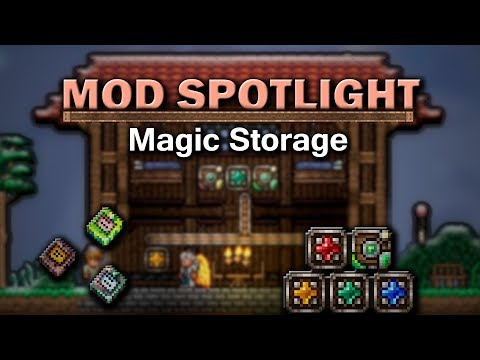 Terraria Mod Spotlight - Magic Storage Mod - YouTube