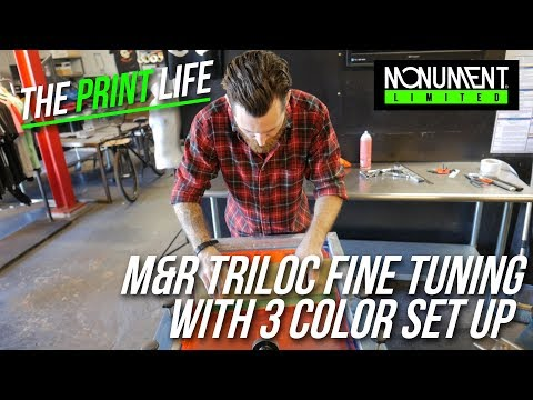 3 Color Screen Print Set Up with a used M&R Triloc | Screen Printing Vlog