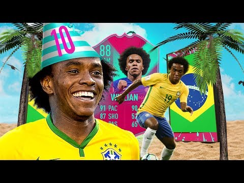 IS HE WORTH 200K?! 88 RATED FUT BIRTHDAY WILLIAN PLAYER REVIEW! FIFA 19 Ultimate Team thumbnail