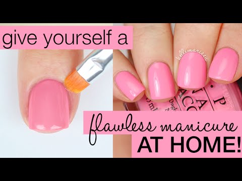 How To Paint Your Nails Perfectly Salon Manicure At Home Kelli Marissa
