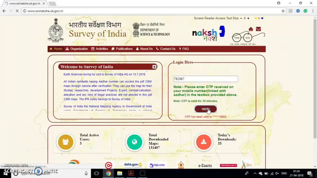 Free Toposheet Download / Survey of India Map - YouTube on