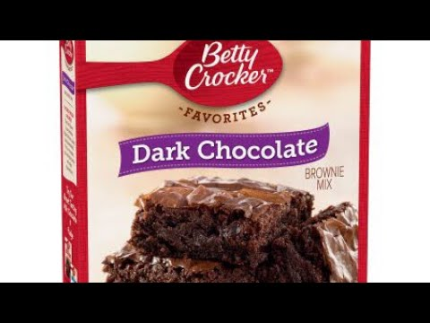 Dark Chocolate Brownie Mix Betty Crocker Youtube