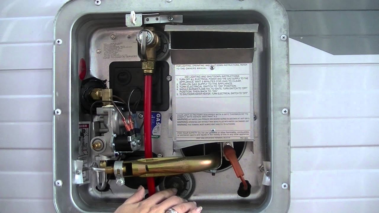 Running the Hot Water System on a Jayco RV  YouTube