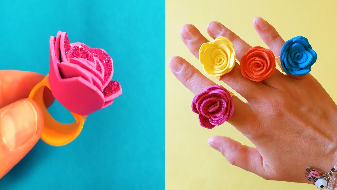 Beautiful Rose Ring | How to Make Paper Things | DIY origami | Paper Craft Ideas