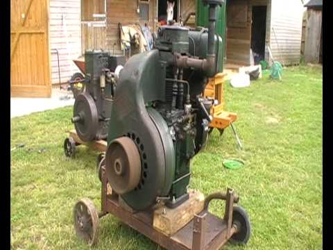 Stationary Engine Crank Up In The Garden Youtube