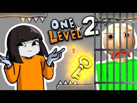 КАК Спасти СТИКМЕНА? ПОБЕГ ИЗ ТЮРЬМЫ вместе с BALDI в One level 2 видео Для Детей Детский ЛеТсплей