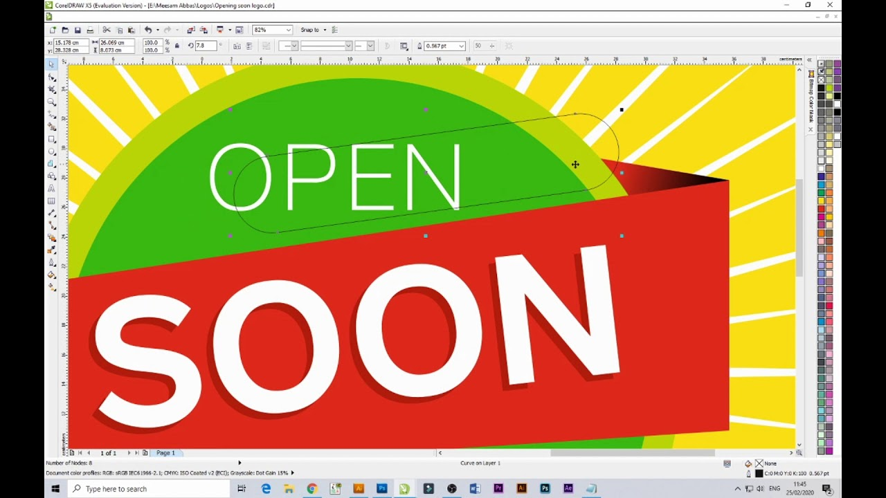 How to Make Banner Design_coral DRAW X5 Design_Opening ...