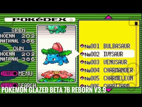 Pokédex : Pokémon Glazed Beta 7B REBORN V3.9