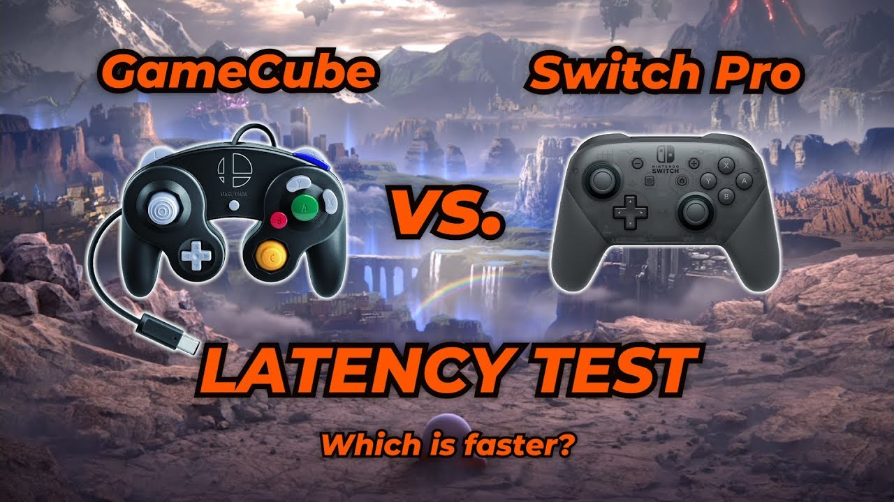 Switch Pro vs  GameCube Latency Test for Super Smash Bros Ultimate