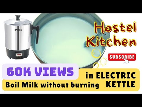 How to boil milk using electric kettle without burning milk | hostel hack | college student bachelor