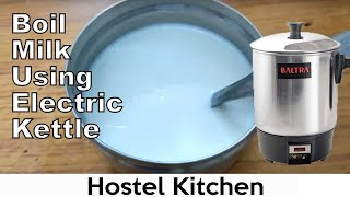 How to boil milk using electric kettle without burning milk   hostel hack   college student bachelor