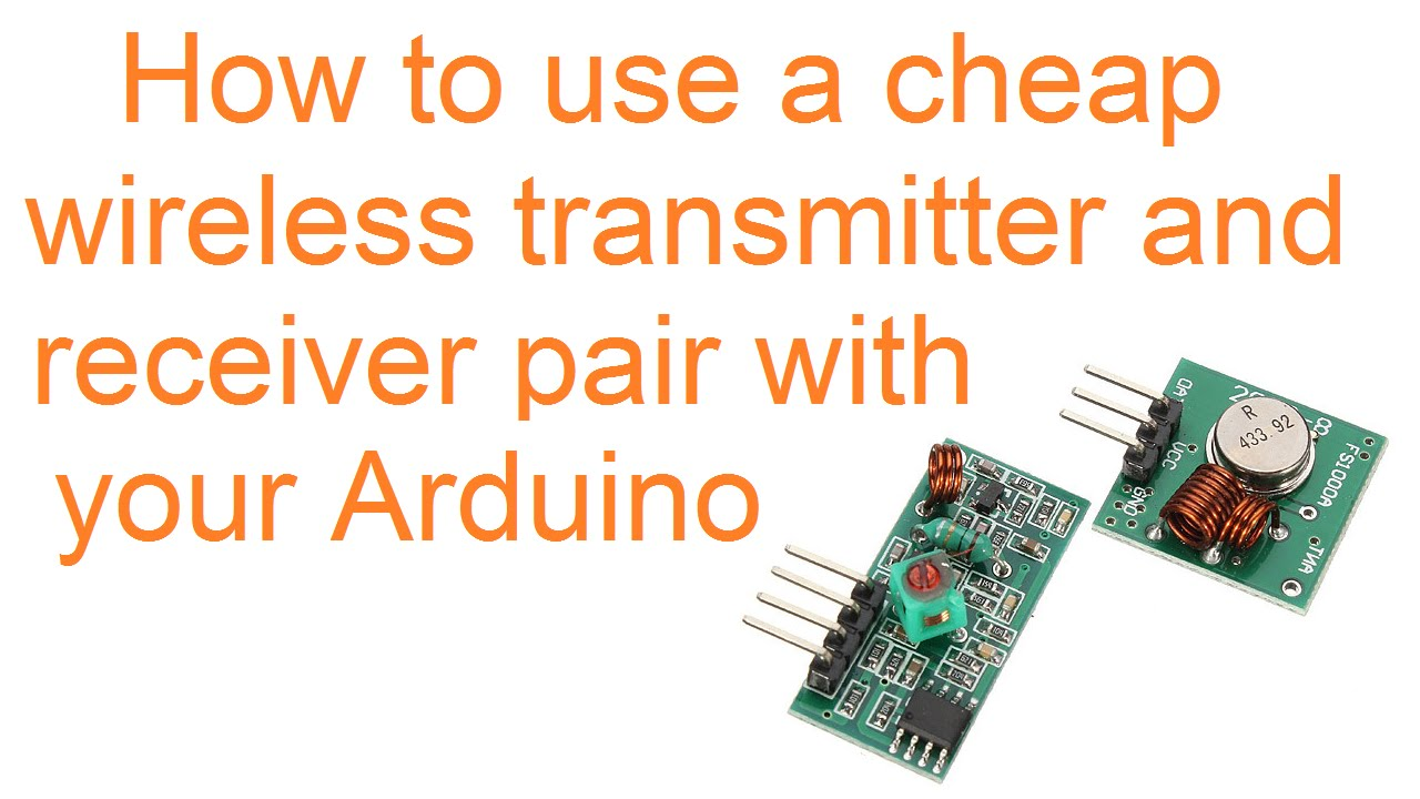 How to use 2 dollar 433 MHz wireless modules with an Arduino
