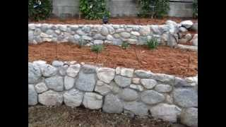 Shredded Cedar Mulch, Stone Ground Cover And  Gravel And Stone Pathways